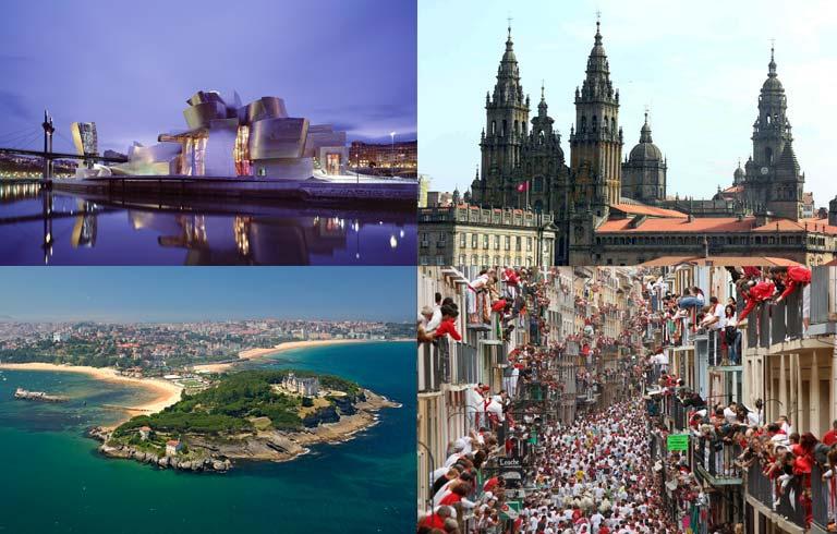 Bilbao, A Coruña, Santiago...